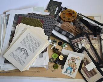 Masculine Journal Kit, Masculine Art Journal Kit, Masculine Embellishments