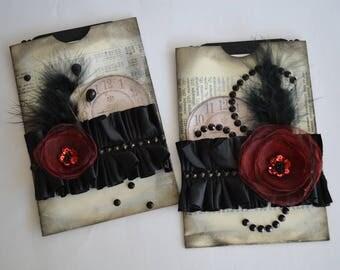 Elegant Paper Pockets, Book Page Pockets, Journal Pockets, Gift Bags