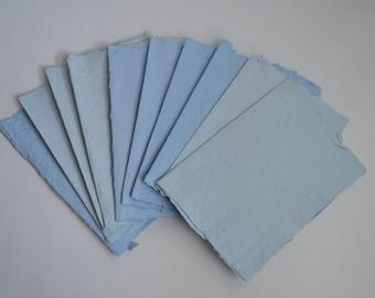 Handmade Paper, Blue