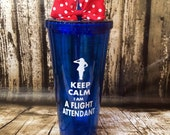 Personalized Flight Attendant cup, flight stewardess,flight stewart,attendant tumbler,custom stewardess,airline pilot, flight attendant gift
