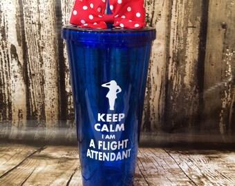 Personalized Flight Attendant cup, flight stewardess,flight stewart,attendant tumbler,custom stewardess,airline pilot, flight attendant gift