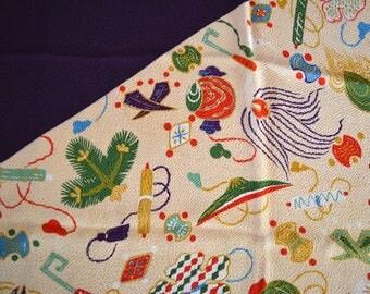 Furoshiki, chirimen wrapping cloth, Japanese furoshiki, eco gift wrapping cloth