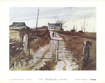 Andrew Wyeth-Chester County Fair-1965 Poster