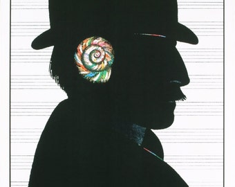 Milton Glaser-Sony Tape-1980 Poster