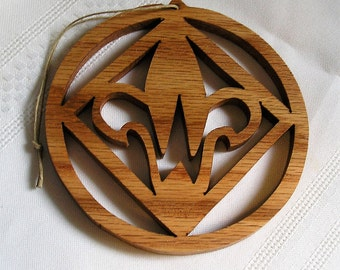 Webelo ornament, handcrafted of oak