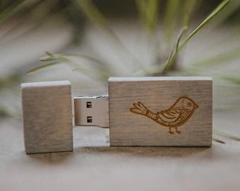 FAST USB 3.0 - 8gb-16gb-32gb wood USB 3.0 flash drive.