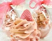 STRAWBERRY CHAMPAGNE goat milk soap/cupcake soap/handmade soap/cold process/soap cupcake/body soap/soap favor/wholesale soap/gentle soap
