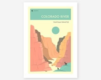 GRAND CANYON National Park (Giclée Fine Art Print/Photo Print/Poster Print) The Colorado River by Jazzberry Blue