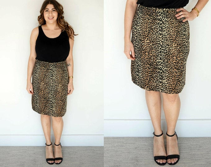 Featured listing image: 1990s Animal Print Pencil Skirt