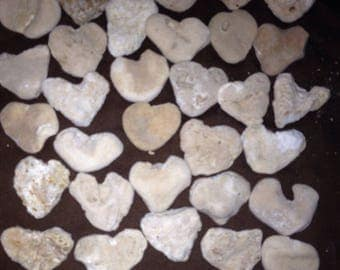 31 Large Heart Shaped Beach Rocks-Valentine's, Home Decor, Aquariums, Weddings