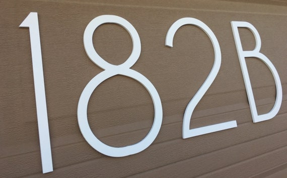 12 inch Magnetic Elegant Modern Numbers Letters for doors
