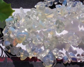 SALE Opalite Gemstone Bead Strand, Medium or large chips, Long strand
