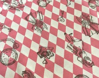 Lecien Japanese Fabric / Alice in Wonderland Fabric Diamond Pink