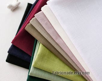 Bamboo Joint Linen Fabric, Solid White Pink Tan Green Linen Blended Fabric For Summer Clothing - 1/2 yard