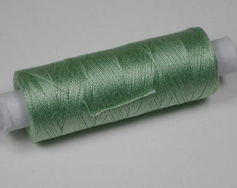 Jerry cotton, knitting and crochet yarn for the miniature handmade, colour pistachio green # 5051
