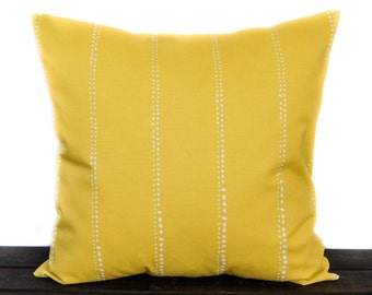 Pillow, Throw Pillow, Pillow Cover, Cushion, Decorative Pillow, yellow and white, Carlo Mimosa Yellow