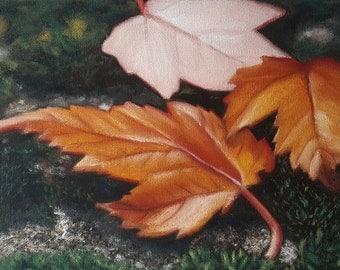 Fallen  Leaves Original Art Print