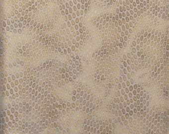 16 Square Foot Silverstone Upholstery Leather Hide Embossed in Snake Skin Browns (ID5)