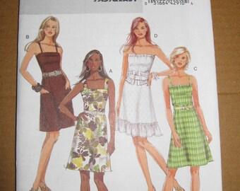 B5351 Butterick fast&easy Summer Dress Patter, Uncut, 8, 10, 12, 14, sewing pattern, sewing supplies, rosesandbutterflies