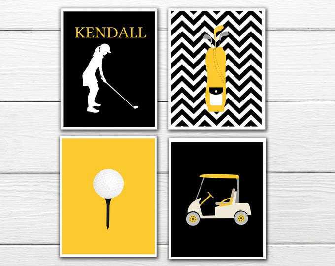 Golf Themed Decor - Girl - Custom Colors CANVAS AVAILABLE