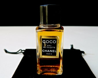 Vintage CHANEL Coco Perfume Eau de Toilette Rare 19ml 2/3 oz Bottle Full Unused Lovely Gift Bag