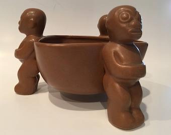 Vintage Ceramic Tiki Bowl