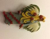 Vintage Lucinda Angel pin handcrafted OOK