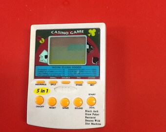 Hand held card game electronic