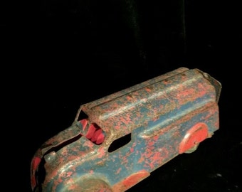 Antique Toy Truck Metal with moveable Wheels Original
