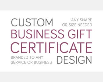 Custom GIFT CERTIFICATE Design | Print Ready Store Credit Form | Shop Branding | Printable for Business | Creative Graphic Commercial