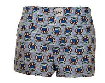 Men's Cotton Boxer Shorts Spaceman Blue