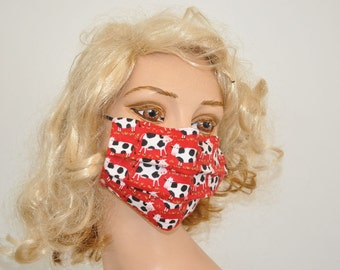 Surgical face mask, Dairy cows, soft fleece cotton, cows, Flu mask, Cold protection, Cows