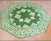 St Patrick's Day Quilted Table Topper Quilt 699