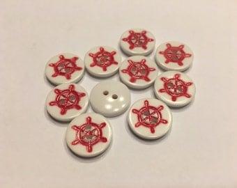 10 vintage Sailor Buttons, 15 mm (24)