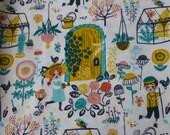 1/2 Yard Organic Cotton Fabric - Birch Fabrics, the Hidden Garden, Hidden Garden Main