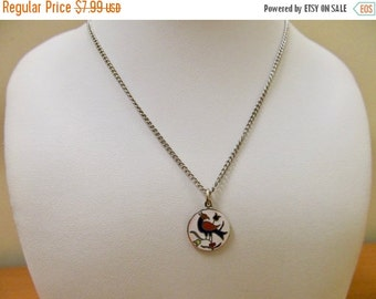 On Sale Vintage Enameled Distelfink Hex Sign Necklace Item K # 635