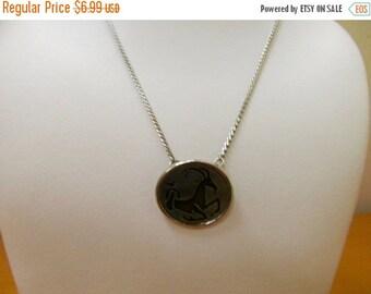 On Sale Vintage Enameled Zodiac Capricorn Necklace Item K # 680