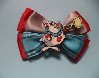 Alice in wonderland White Rabbit  /  Hair Bow