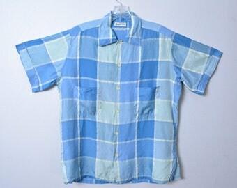 Vintage 1950s Men's Shirt 50s Christian Dior Designer Silk Shirt