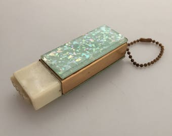 1950s Vintage CONFETTI LUCITE Purse Flashlight Fashion Accessory Lucite Flashlight Ray O Vac Batteries Penlight Batteries Old Store Stock