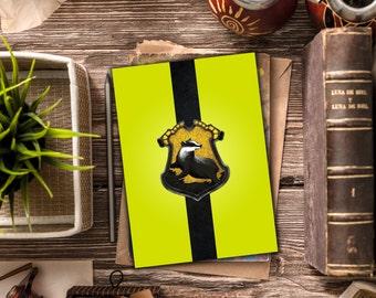 Instant Download / Hufflepuff Blank Card / Harry Potter Inspired / Harry Potter Stationary / Hufflepuff Stationary / Hogwarts, Hufflepuff