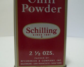 Vintage Shilling Chili Powder Tin