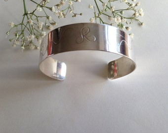 Organic Sterling Silver Cuff Band  with soft pattern design