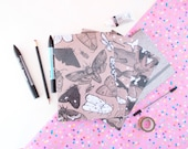 Kraft Paper Creatures Notebook - Stationary - Illustration - Whales - Moths - Bats - Sketchbook - Notebook - Cute Staionary - Design