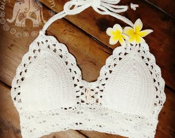 Natalie Crochet Bralette | Crochet Bikini Top | Crochet Crop Top | Crochet Halter Top | Crochet Festival Top | Custom Bikini Top | Coachella