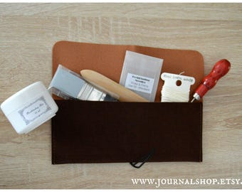 Bookbinding Tool Kit, gift set for bookbinders, essential bookbinding tools, portable bookbinding kit
