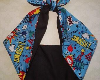pin up rockabilly  bandana,  rockabilly pin up psychobilly  hairband headband