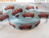 "Fire truck, Firefighter, hero, Craft Supply, Super hero, Grosgrain ribbon, Craft Supplies, Ribbon Shop, 7/8"" RN16129"