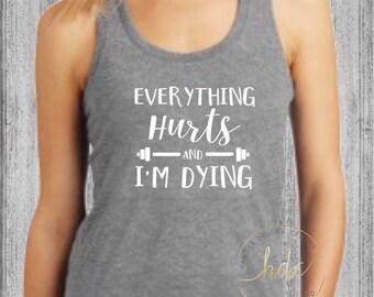 Womens Funny Gym Shirt/Funny Workout Shirt/Womens Fitness Shirt/Womens Funny Workout/Racer Back Gym Tank
