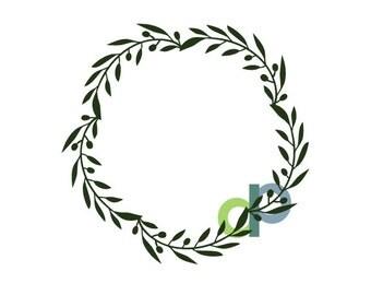 Full Olive Leaf Wreath-SVG file